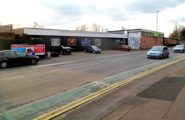 Derelict former garage, Cardiff Road, Newport