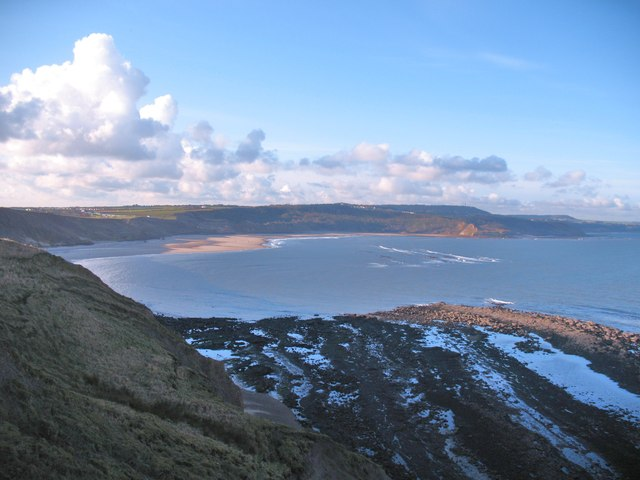 Towards Cayton Bay from Red Cliff Point