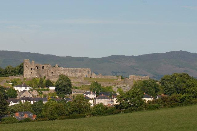 Denbigh Castle and Moel Famau
