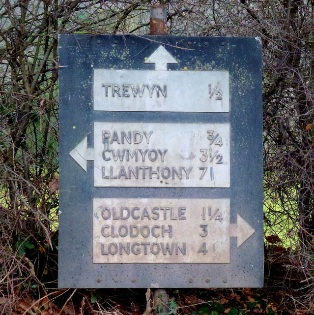 A pre-Worboys sign in Monmouthshire