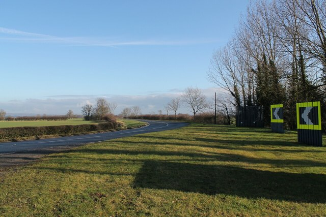 Bend in A631 near Rectory Farm