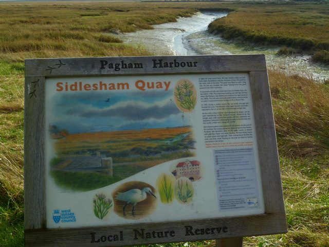 Information notice at Sidlesham Quay