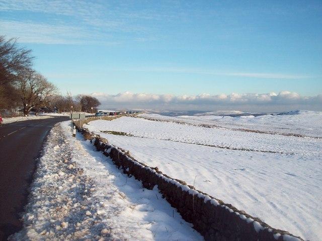 Snow Scene near Mam Tor Car Park