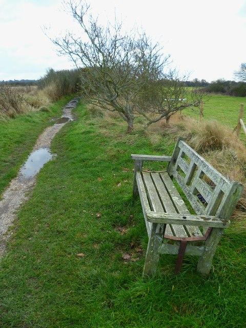 Memorial seat near Sidlesham Quay
