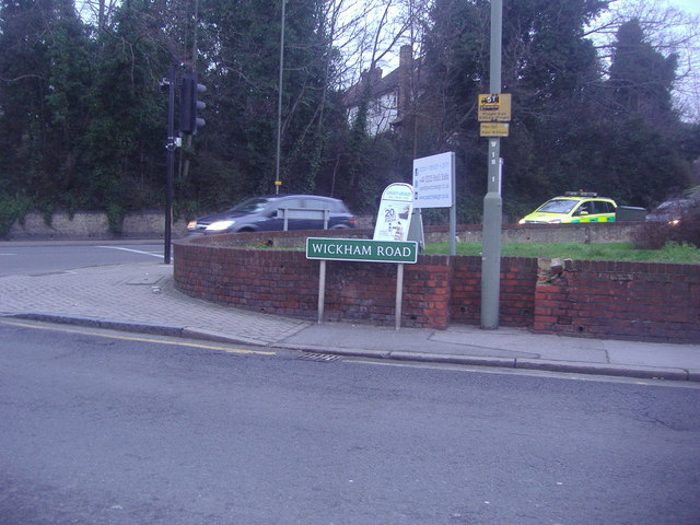 The corner of Wickham Road and Bromley Road, Beckenham