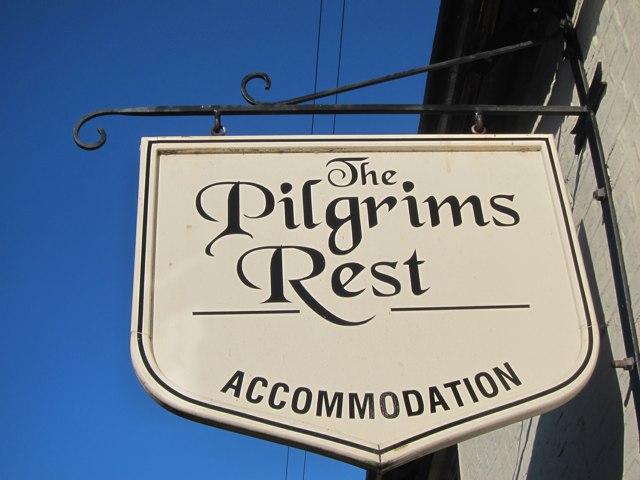 The Pilgrims Rest sign