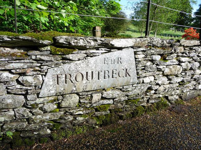 Troutbeck Village Sign, Cumbria