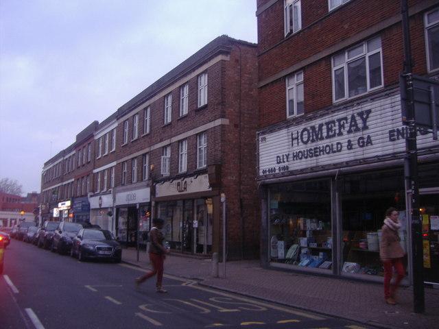 Shops on High Street Beckenham