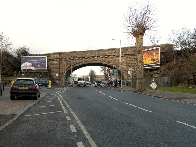 Railway bridge over Fornham Road, the A1101
