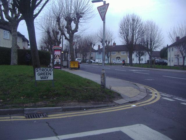 Corner of Stroud Green Way and Long Lane