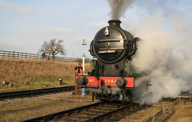 Quorn & Woodhouse Station, spectacular departure