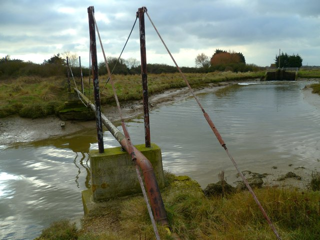 Remains of tramway bridge crossing Ferry Channel