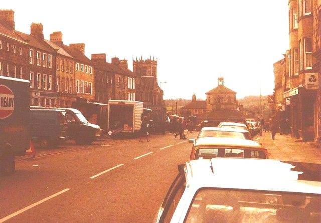 Market Place, Barnard Castle in 1984