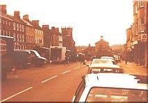 NZ0516 : Market Place, Barnard Castle in 1984 by John Baker