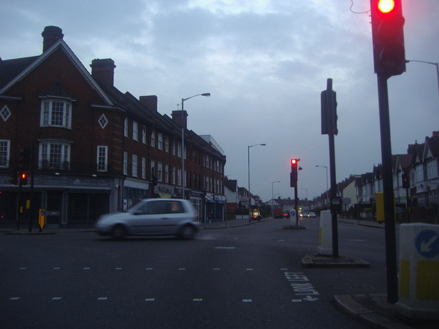Junction of Lower Addiscombe Road and Shirley Road