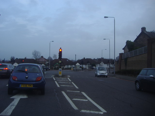 Croydon Road at the junction of Purley Way, Waddon