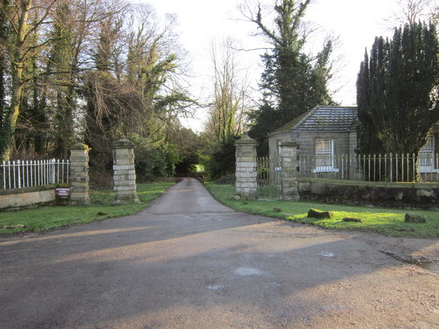 The entrance to Potterton Hall
