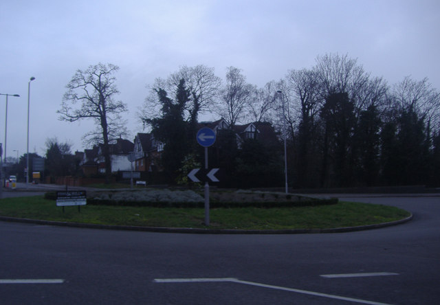 Roundabout at the end of Shirley Road