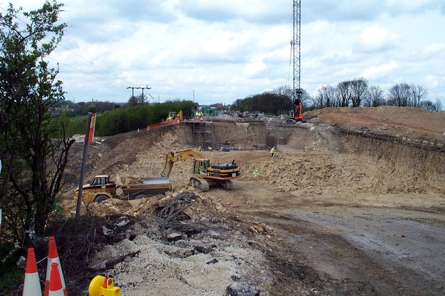 Removing the old A1  road at Fairburn