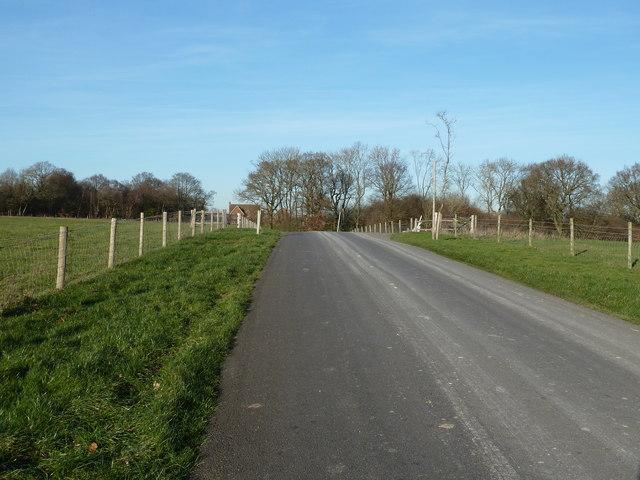Access road to Wivelsden Farm