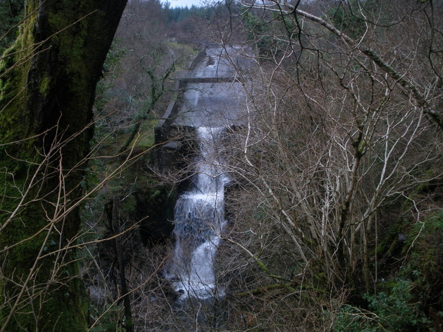Outflow from the reservoir Bishops Glen Dunoon