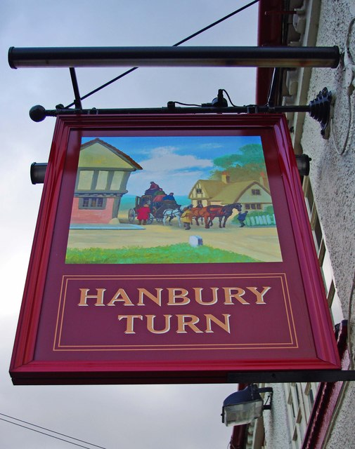 Hanbury Turn (2) - sign, 44 Hanbury Turn, Stoke Heath