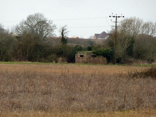 Pillbox overlooking Aldingbourne Rife