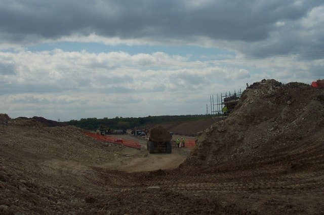 Moving the Muck. Construction of the new Motorway