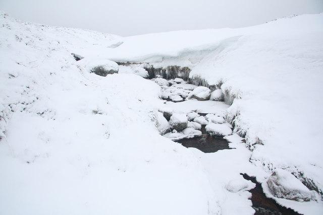 Snow and ice on the Allt Cro-Chloich