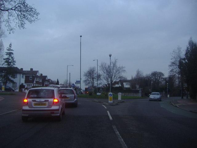 Roundabout on South Eden Park Road