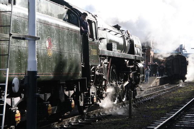 Steamy Loughborough Station