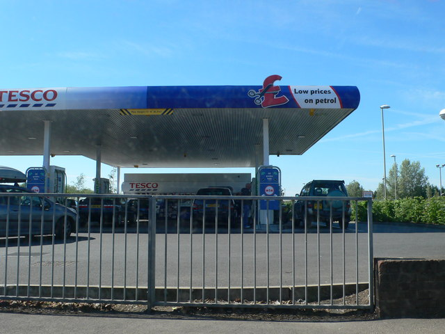 Tesco Filling Station on Tewkesbury Road