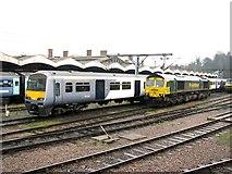 TM1543 : Ipswich railway station sidings by Evelyn Simak