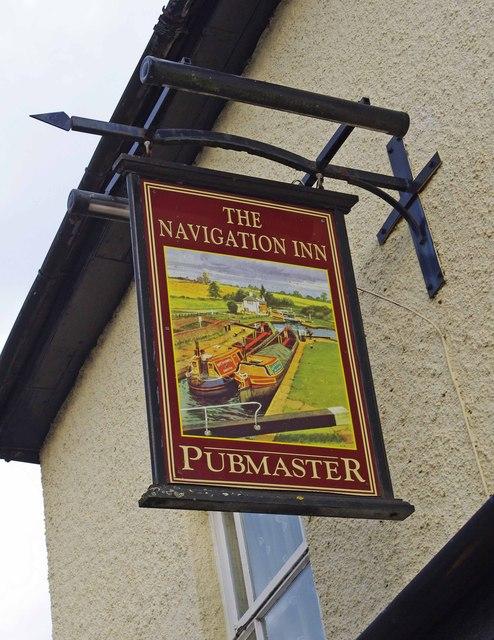 The Navigation Inn (2) - sign, 57 Hanbury Road, Stoke Prior