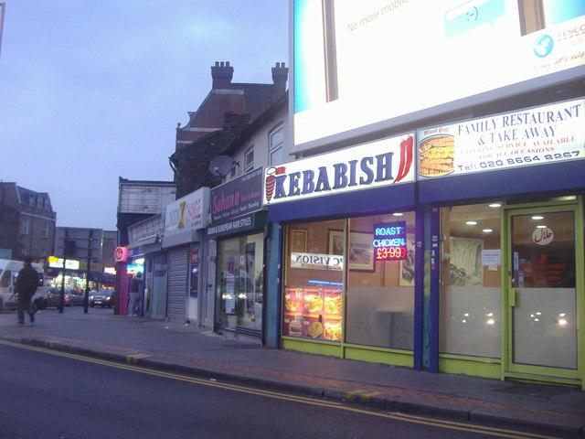 Shops on St James Road Croydon