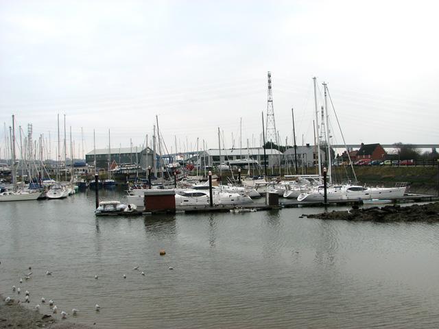 Boats moored in Belstead Creek, Ipswich