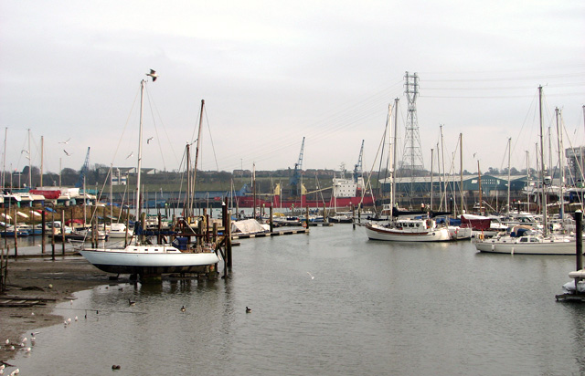 View along Belstead Creek on its approach to the River Orwell, Ipswich