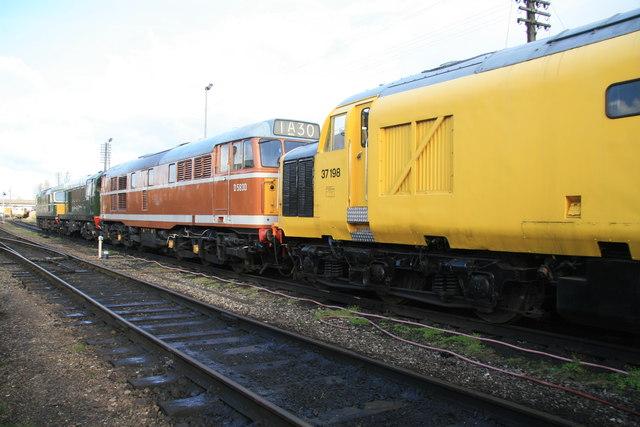 Preserved diesel locomotives - Loughborough