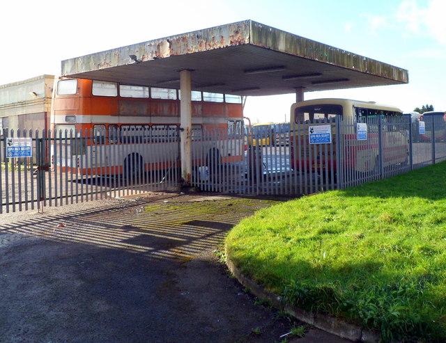 NE edge of Old Post Garage near Bonvilston