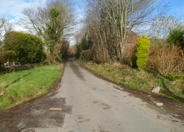 Minor road north of the A48 west of Bonvilston