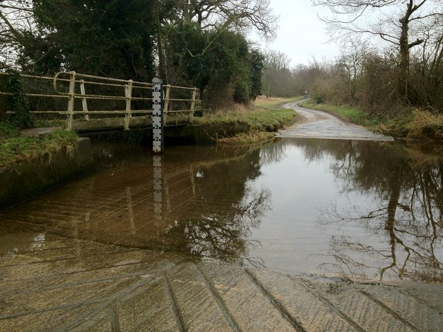 Ford on the River Stiffkey at Houghton St Giles