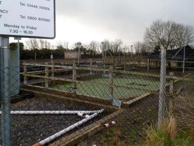 A corner of Pant y Lladron treatment facility near St Hilary