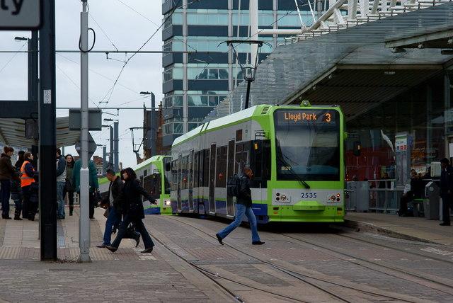 Trams at East Croydon