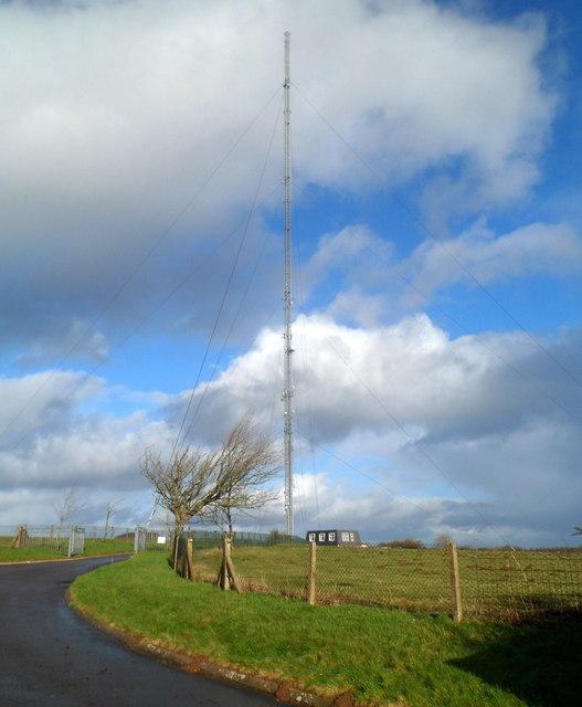 St Hilary transmitting mast