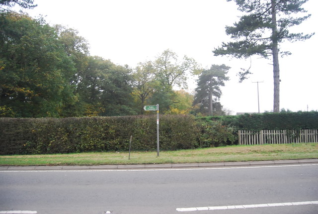 Footpath sign, A291