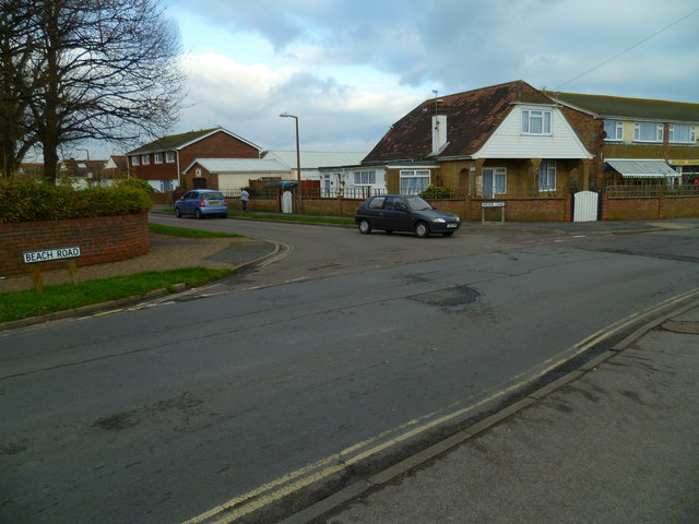 Junction of Manor Lane and Beach Road in Selsey