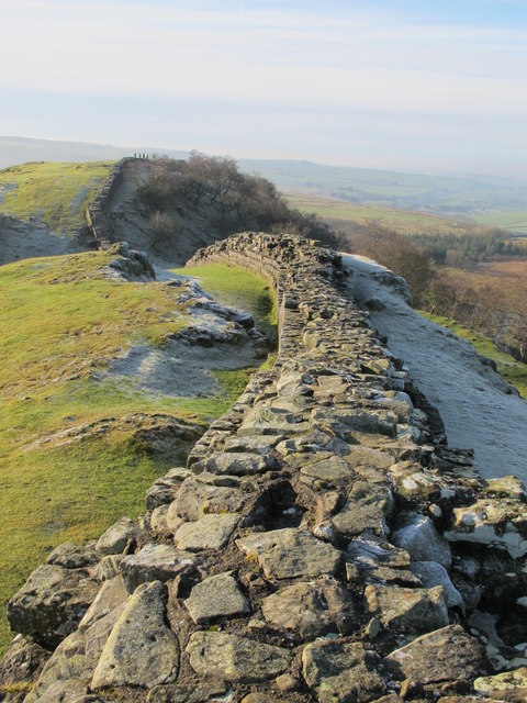 Hadrian's Wall west of Turret 45a (Walltown)