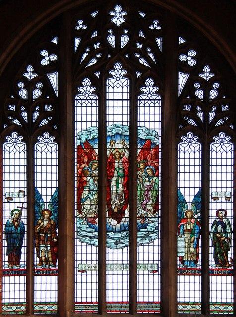 St Luke, Ryfold Road, Wimbledon Park - Stained glass window