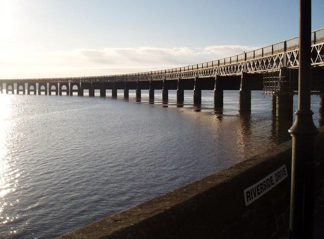 Tay Railway Bridge at Riverside Drive