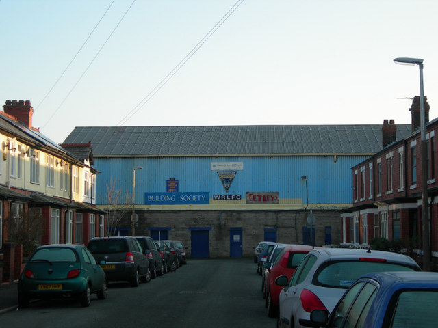 Old Wilderspool Stadium entrance